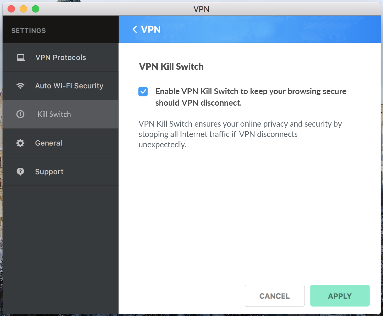 Activer le Kill Switch sur son VPN