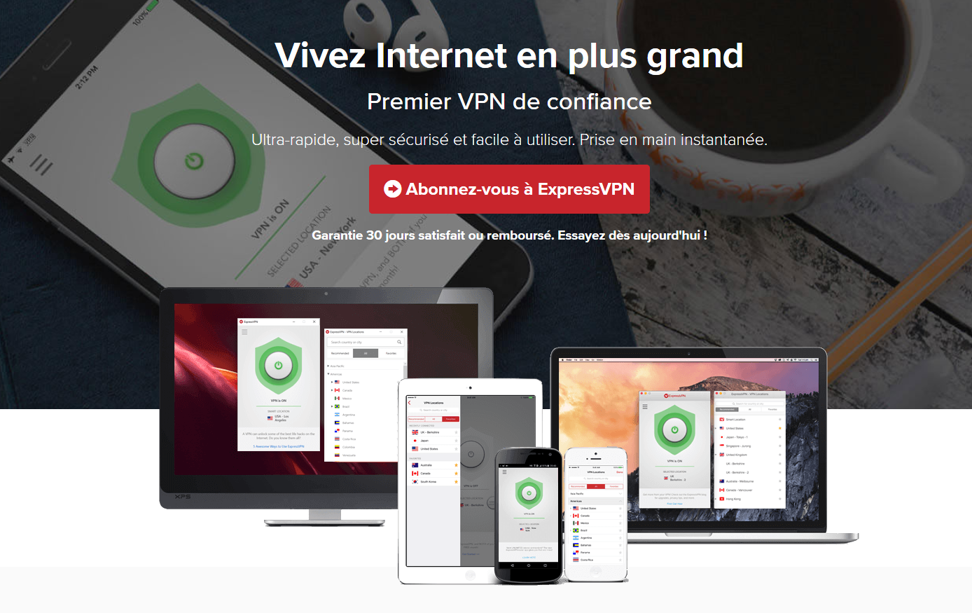 Avis VPN ExpressVPN capture