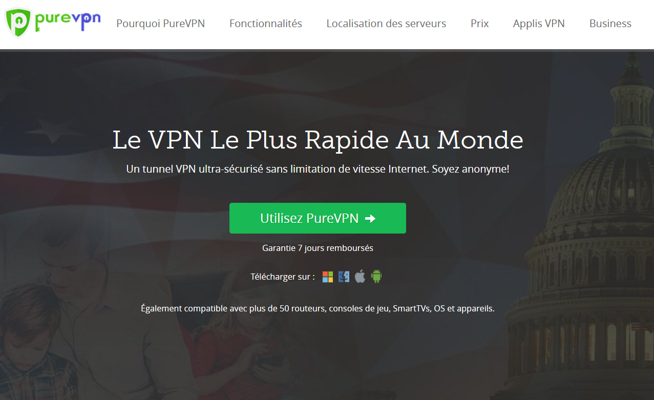 Avis VPN PureVPN capture