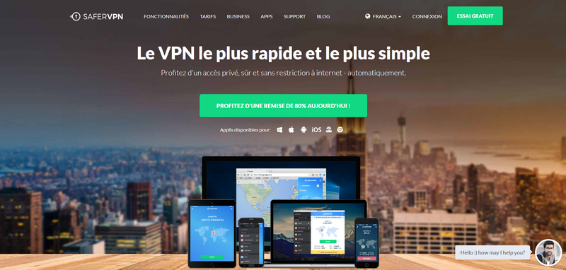 Avis VPN SaferVPN capture